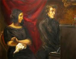 il ritratto di Chopin e George Sand dipinto da Delacroix